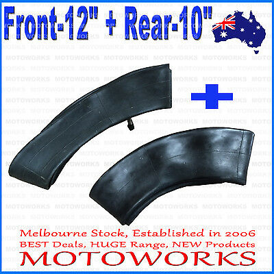 "80/100 - 10"" + 60/100 - 12"" Inch Front Rear Inner Tube PIT PRO Trail Dirt Bike"