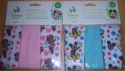 Disney Mickey Mouse or Minnie Mouse Wash Cloths, Baby Shower, Diaper Cake
