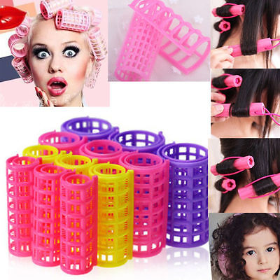 12 PCS Curler Roller Large Grip Cling Hair Styling Curler Hairdressing Tool