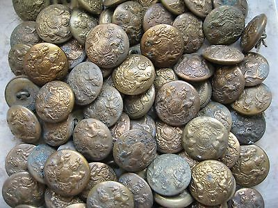 BRITISH ARMY WW 1/2 GENERAL SERVICE SET OF 15 LARGE 25mm BRASS BUTTONS  BARGAIN