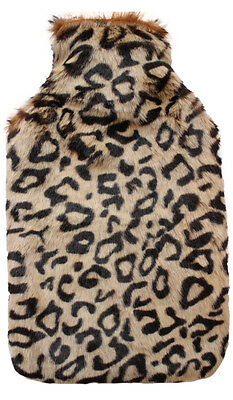 Vagabond Jaguar Faux Fur 2.0L Hot Water Bottle