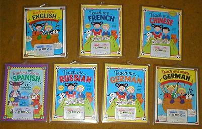 "Lot 7 Audiobooks~Childrens ""Teach Me"" Languages Series-Spanish, Chinese, etc..."