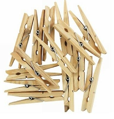 Wooden clothes pegs washing line airer dry line wood peg gardens UK NEW