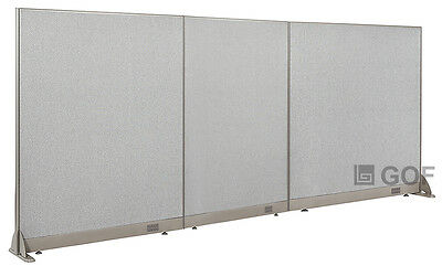 "GOF Office Freestanding Partition 126""W x 60""H / Office Divider"