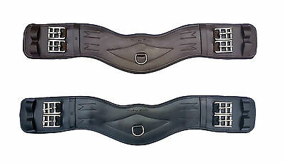 Leather Dressage Girth Short Eventing Girt  Padded Anatomically Shaped Girth