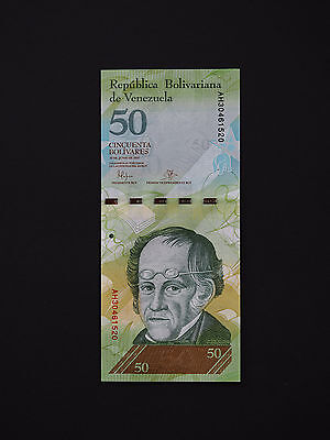Venezuela Banknotes  -  Superb 50 Bolivares Note -  Lovely  * Unc *