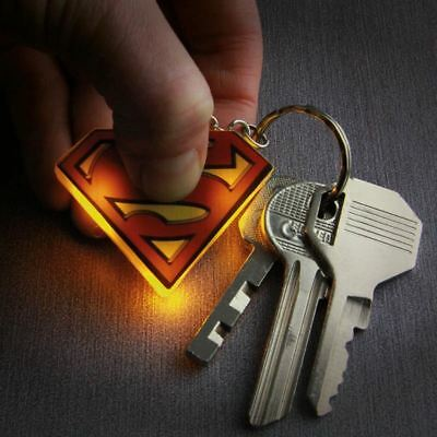 Official DC Comics Superman Logo Light Up Keyring Flashlight Torch Keychain