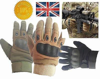 Mens Military Combat Tactical Gloves Hard Knuckle Army Security Police All Sizes