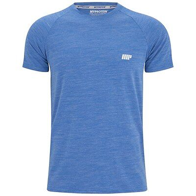 Myprotein Mens Performance Short Sleeve Top - Blue - Gym Fitness T-Shirt S-XXL