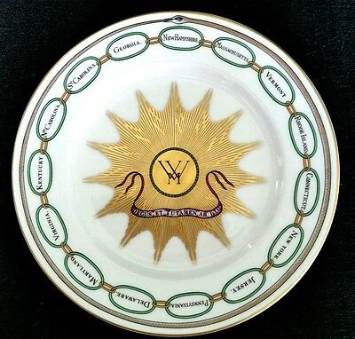 Woofmere China White House Dessert Collection 7.50in George Washington Plate  D4