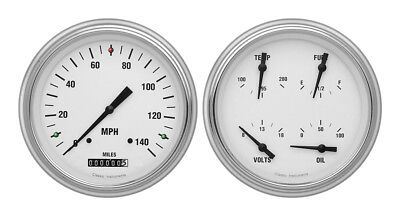 Classic Instruments 51-52 Chevy Car Package w/ White Hot Gauges Dash Insert