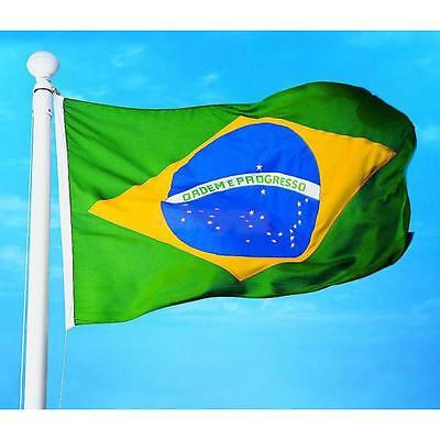 LARGE BRAZIL FLAG 3X5ft BRAZILIAN FOOTBALL BANNER 90X150cm Polyester Fabric