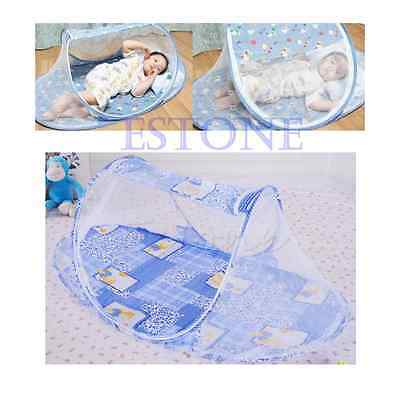 New Infant Baby Mosquito Net Tent Cradle Polyester Mesh Crib Netting Folding