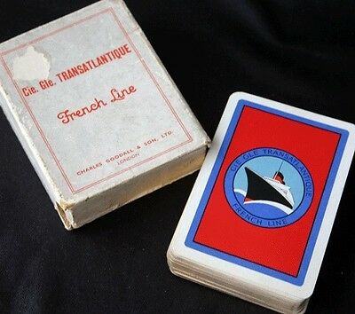 CGT French Line SS NORMANDIE Boxed Playing Cards Goodall