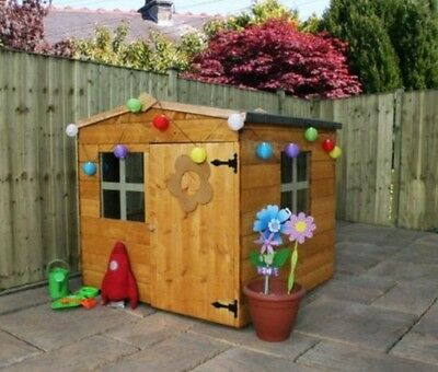 Garden Childrens Playhouse Wooden House Kids Set Outdoor Toys Imaginary Play