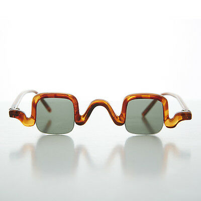 Edwardian Square Spectacle Steampunk Vintage Sunglasses Tortoise- Cabot
