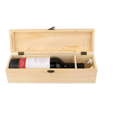Empty Single Bottle Wood Wine Case Crate Wine Box Carrier Storage Container