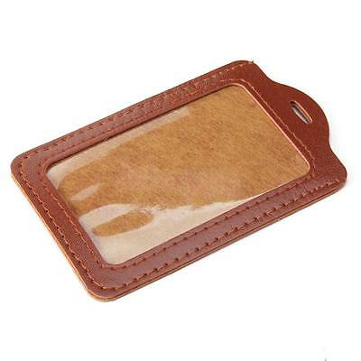 Factory Students ID Business Card Holder Leather Trim