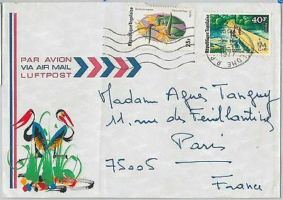 56483  -   TOGO -  POSTAL HISTORY:  AIRMAIL COVER to FRANCE - 1977 - FLOWERS