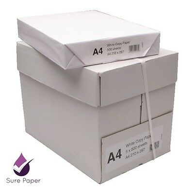 Sure Paper (1 box, 2500 sheets) White A4 Paper 80GSM Photocopy & Printing Paper