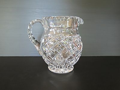Stunning Diamond Cut Heavy Lead Crystal 1 Litre  Water Jug