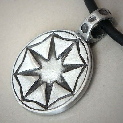 MAGIC 8 POINTED STAR Octagram of Creation Pagan/Wiccan/Buddhism Pewter Pendant