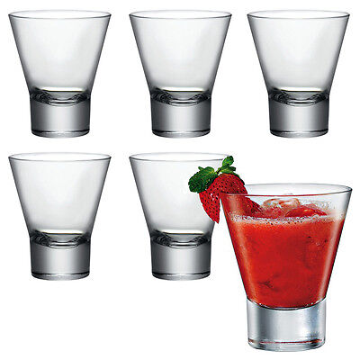 6x Bormioli Rocco Ypsilon Glass Cocktail Dessert Tumbler Glasses Drinking Cups