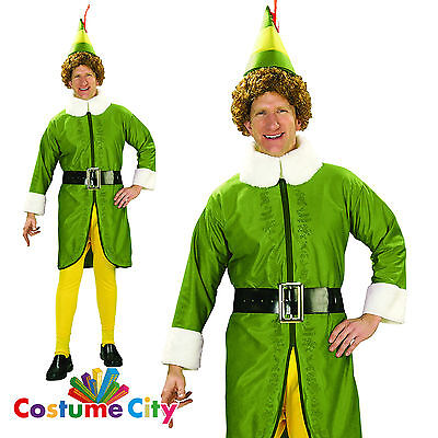 Adults Mens Official Buddy the Elf Movie Christmas Fancy Dress Party Costume