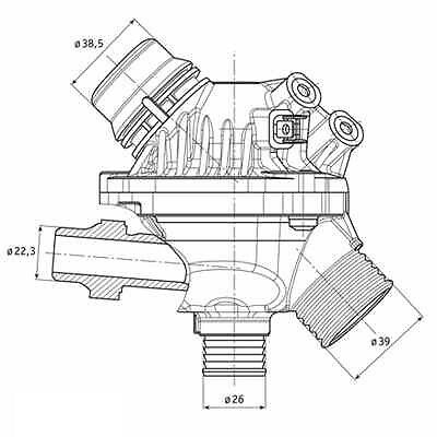 engine coolant thermostat premium thermostat stant 45356 7 59 1954 Packard Electro Glide oem thermostat housing coolant system replace fit bmw 5 series e60 2005 2010