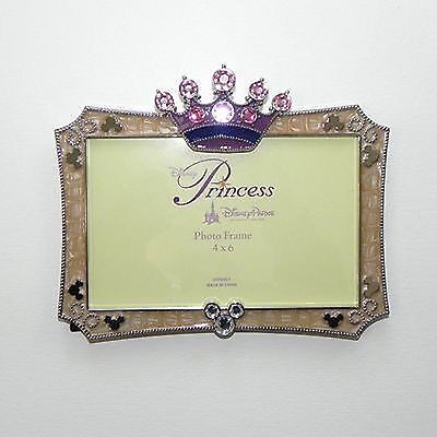 "disney parks princess pink crown 4""x6"" picture photo frame new with box"