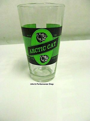 Arctic Cat Screen Printed on Glass Cat to the Core Pint Glass 5273-037