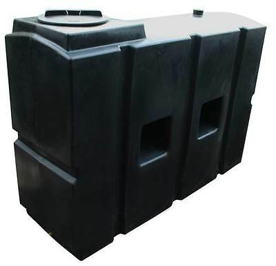 """Ecosure 1100 Litre Water Butt Rain Water Harvesting Tank Black 2"""" Outlet"""