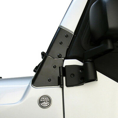 Rugged Ridge Jeep Wrangler TJ 1997-2006 Windshield Hinge Pair Black 11209.02