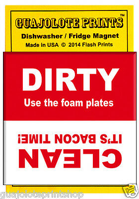 Funny Bacon Clean/Dirty Dishwasher Magnet Guajolote Prints™