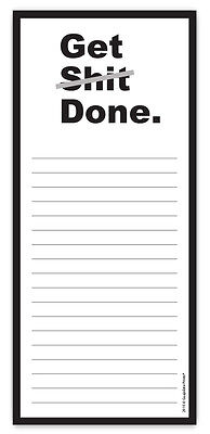 Get S**t Done Funny Rude Magnetic Grocery List Notepad by Guajolote Prints™