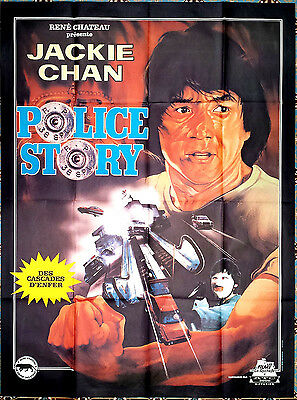 1985 POLICE STORY Jackie Chan 47x63 French film poster