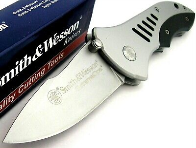Smith & Wesson SW5 Tactical Extreme Ops Folder Stainless G10 Knife CLAM SWCK5