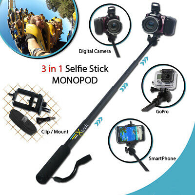 Xtech® for Nikon Coolpix S33 - PRO 3 in 1 MONOPOD Pole w/ 3 Extendable Sections