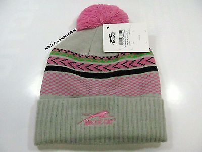 2017 Arctic Cat Women's Aircat Pink and Gray Beanie Hat w/ Pom 5273-092