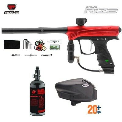 Paintball Package Dye RIZE - Red w/ Tank and Hopper