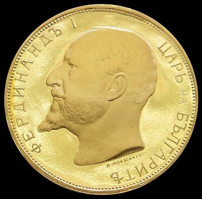 1912 Gold Bulgaria 20 Leva National Bank Issue Coin Gem Proof Condition