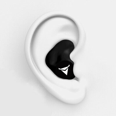 Decibullz PLG1-BLK Custom Molded Fit Earplugs in Black