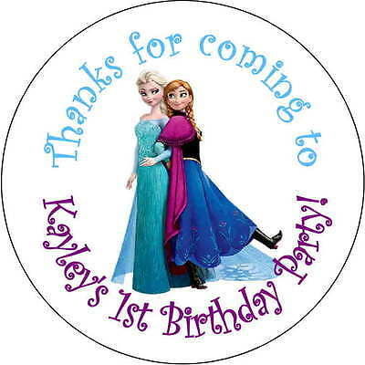 12 movie theater popcorn stickers Birthday Party 2.5 Inch Personalized loot