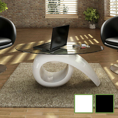 NEW Glass Top Coffee Table High Gloss White/Black High-quality Exclusive Design