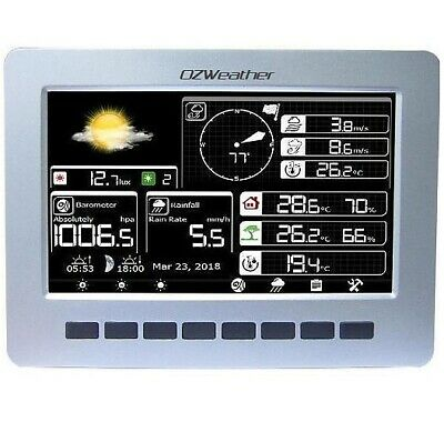 OZWeather™ Wireless Solar Weather Station with Professional Display PC Link