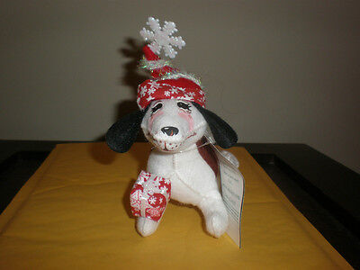"""Annalee 6"""" Snowflake Hound Dog New With Tag"""