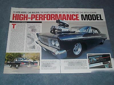 """1965 Ford Fairlane 500 Pro Street Article """"High-Performance Model"""""""