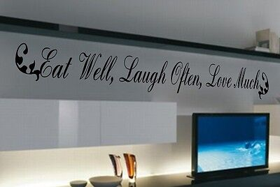 GATHER EAT LAUGH BOND Kitchen Diner Cafe Religious Quote Vinyl Wall Decal Words