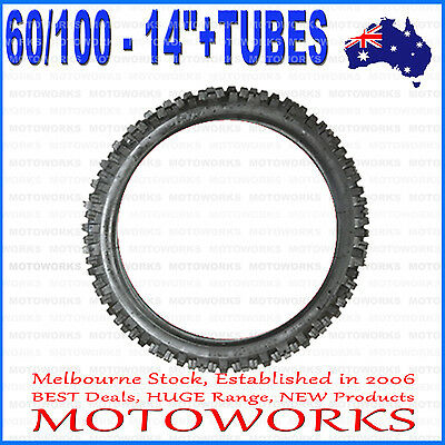 "2.75 - 14 60/100 - 14"" Inch Front Knobby Tyre Tire +Tube PIT PRO Trail Dirt Bike"