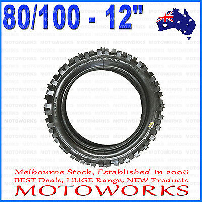 "80/100 - 12"" Inch Rear Back Knobby Tire 90CC 110CC 125cc PIT TRAIL DIRT BIKE Pro"